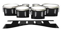Dynasty 1st Generation Tenor Drum Slips - Black Stain (Neutral)