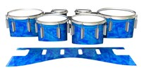 Dynasty 1st Generation Tenor Drum Slips - Blue Cosmic Glass (Blue)