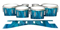 Dynasty 1st Generation Tenor Drum Slips - Blue Feathers (Themed)