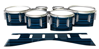 Dynasty 1st Generation Tenor Drum Slips - Blue Horizon Stripes (Blue)