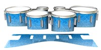Dynasty 1st Generation Tenor Drum Slips - Blue Ice (Blue)