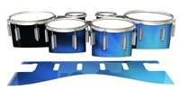 Dynasty 1st Generation Tenor Drum Slips - Blue Light Rays (Themed)