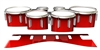 Dynasty 1st Generation Tenor Drum Slips - Cherry Pickin' Red (Red)