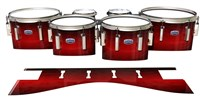 Dynasty Custom Elite Tenor Drum Slips - Active Red (Red)