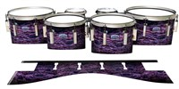 Dynasty Custom Elite Tenor Drum Slips - Alien Purple Grain (Purple)