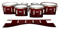 Dynasty Custom Elite Tenor Drum Slips - Apple Maple Fade (Red)