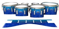 Dynasty Custom Elite Tenor Drum Slips - Aquatic Blue Fade (Blue)