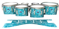 Dynasty Custom Elite Tenor Drum Slips - Aquatic Refraction (Themed)