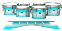 Dynasty Custom Elite Tenor Drum Slips - Aqua Wake (Aqua)