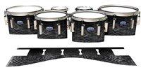Dynasty Custom Elite Tenor Drum Slips - Ashy Grey Rosewood (Neutral)