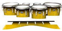 Dynasty Custom Elite Tenor Drum Slips - Aureolin Fade (Yellow)