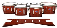 Dynasty Custom Elite Tenor Drum Slips - Autumn Fade (Orange)