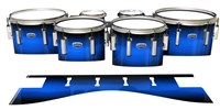 Dynasty Custom Elite Tenor Drum Slips - Azure Stain Fade (Blue)