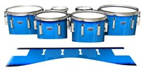 Dynasty Custom Elite Tenor Drum Slips - Bermuda Blue (Blue)