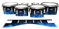 Dynasty Custom Elite Tenor Drum Slips - Blue Flames (Themed)