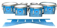 Dynasty Custom Elite Tenor Drum Slips - Blue Ice (Blue)
