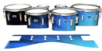 Dynasty Custom Elite Tenor Drum Slips - Blue Light Rays (Themed)
