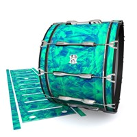 Ludwig Ultimate Series Bass Drum Slips - Aqua Cosmic Glass (Aqua)