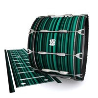 Ludwig Ultimate Series Bass Drum Slips - Aqua Horizon Stripes (Aqua)