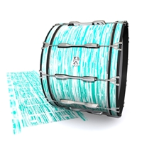 Ludwig Ultimate Series Bass Drum Slip - Chaos Brush Strokes Aqua and White (Green) (Blue)