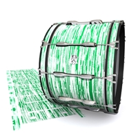 Ludwig Ultimate Series Bass Drum Slip - Chaos Brush Strokes Green and White (Green)