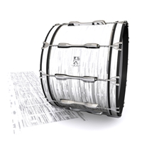 Ludwig Ultimate Series Bass Drum Slip - Chaos Brush Strokes Grey and White (Neutral)