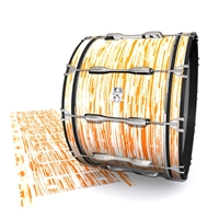 Ludwig Ultimate Series Bass Drum Slip - Chaos Brush Strokes Orange and White (Orange)