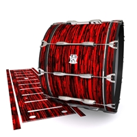 Ludwig Ultimate Series Bass Drum Slip - Chaos Brush Strokes Red and Black (Red)
