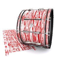 Ludwig Ultimate Series Bass Drum Slip - Chaos Brush Strokes Red and White (Red)