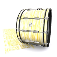 Ludwig Ultimate Series Bass Drum Slip - Chaos Brush Strokes Yellow and White (Yellow)