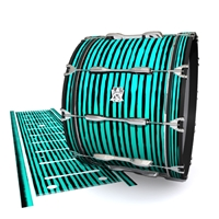 Ludwig Ultimate Series Bass Drum Slip - Lateral Brush Strokes Aqua and Black (Green) (Blue)