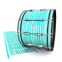 Ludwig Ultimate Series Bass Drum Slip - Lateral Brush Strokes Aqua and White (Green) (Blue)