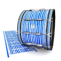 Ludwig Ultimate Series Bass Drum Slip - Lateral Brush Strokes Blue and White (Blue)