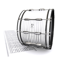 Ludwig Ultimate Series Bass Drum Slip - Lateral Brush Strokes Grey and White (Neutral)