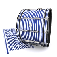 Ludwig Ultimate Series Bass Drum Slip - Lateral Brush Strokes Navy Blue and White (Blue)