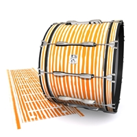 Ludwig Ultimate Series Bass Drum Slip - Lateral Brush Strokes Orange and White (Orange)