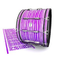Ludwig Ultimate Series Bass Drum Slip - Lateral Brush Strokes Purple and White (Purple)