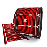 Ludwig Ultimate Series Bass Drum Slip - Lateral Brush Strokes Red and Black (Red)