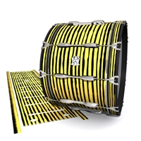 Ludwig Ultimate Series Bass Drum Slip - Lateral Brush Strokes Yellow and Black (Yellow)