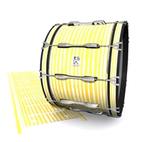 Ludwig Ultimate Series Bass Drum Slip - Lateral Brush Strokes Yellow and White (Yellow)