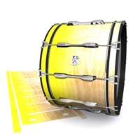 Ludwig Ultimate Series Bass Drum Slip - Maple Woodgrain Yellow Fade (Yellow)