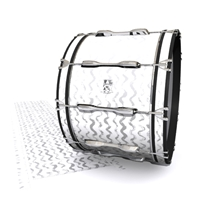 Ludwig Ultimate Series Bass Drum Slip - Wave Brush Strokes Grey and White (Neutral)