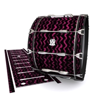 Ludwig Ultimate Series Bass Drum Slip - Wave Brush Strokes Maroon and Black (Red)