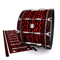 Ludwig Ultimate Series Bass Drum Slip - Wave Brush Strokes Red and Black (Red)
