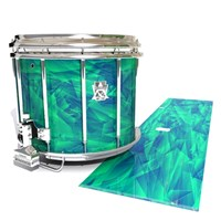 Ludwig Ultimate Series Snare Drum Slip - Aqua Cosmic Glass (Aqua)
