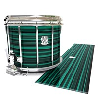 Ludwig Ultimate Series Snare Drum Slip - Aqua Horizon Stripes (Aqua)