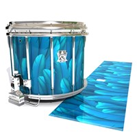 Ludwig Ultimate Series Snare Drum Slip - Blue Feathers (Themed)