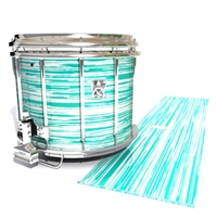 Ludwig Ultimate Series Snare Drum Slip - Chaos Brush Strokes Aqua and White (Green) (Blue)