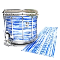 Ludwig Ultimate Series Snare Drum Slip - Chaos Brush Strokes Blue and White (Blue)