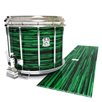 Ludwig Ultimate Series Snare Drum Slip - Chaos Brush Strokes Green and Black (Green)